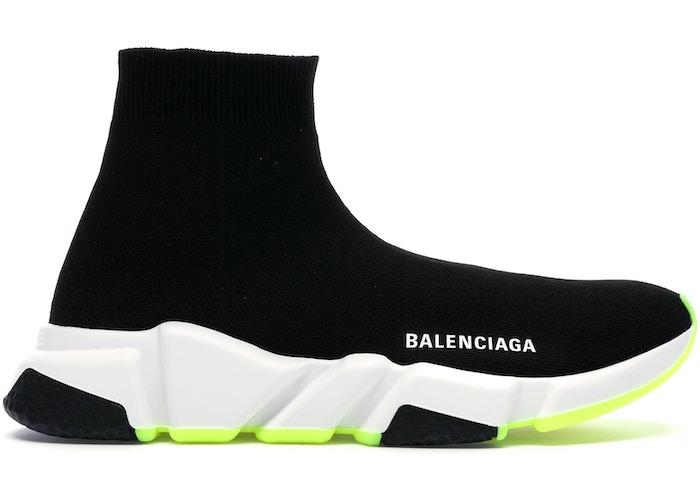 Balenciaga Speed Trainer Black White Neon 2019 (W)