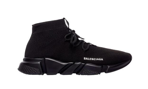 Balenciaga Speed Trainer Lace Up Black