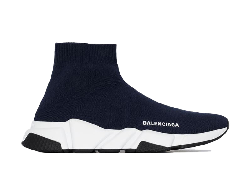 Pre-Owned Balenciaga Speed Trainer Navy