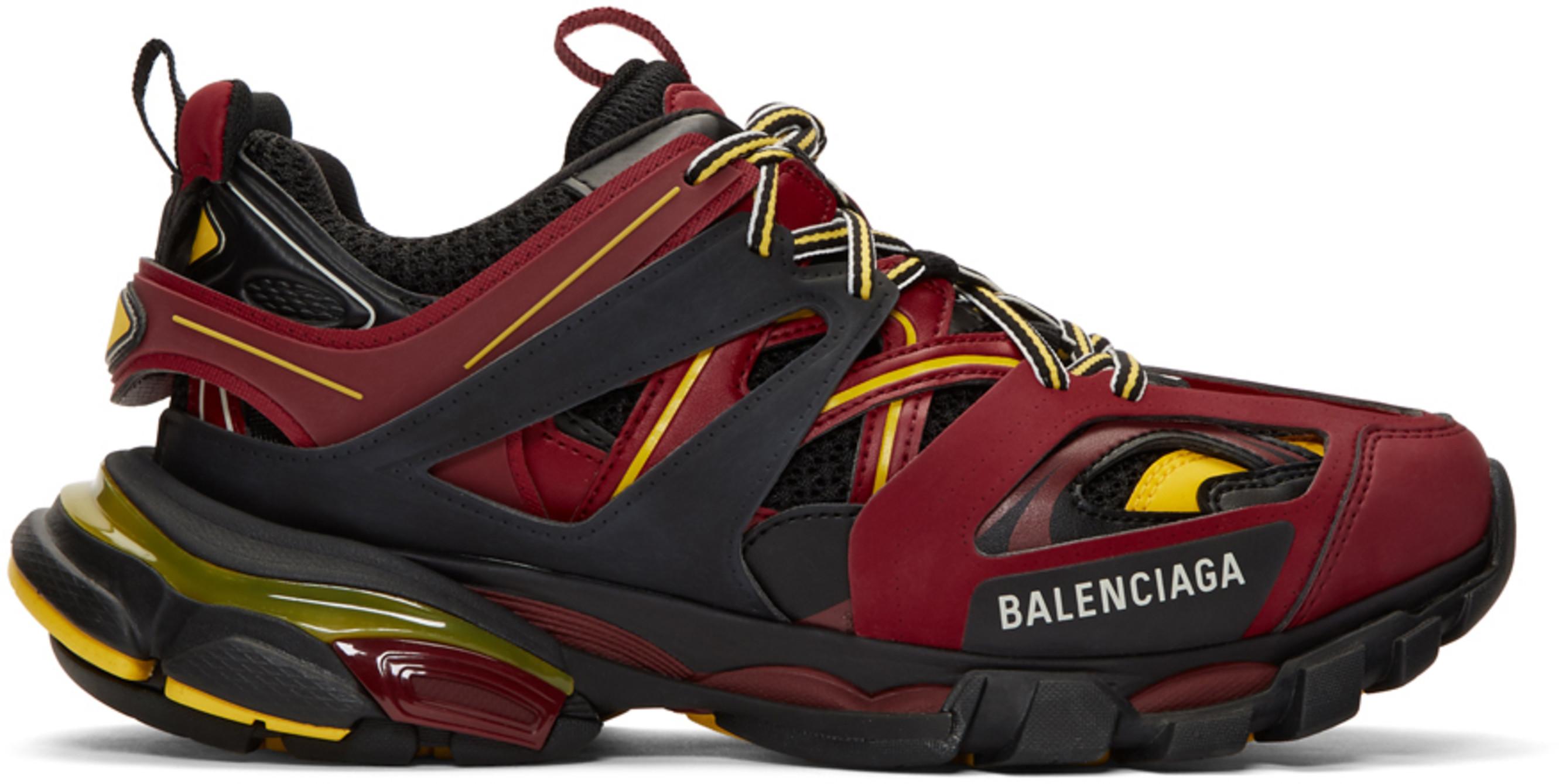 Balenciaga Track Trainers Burgundy