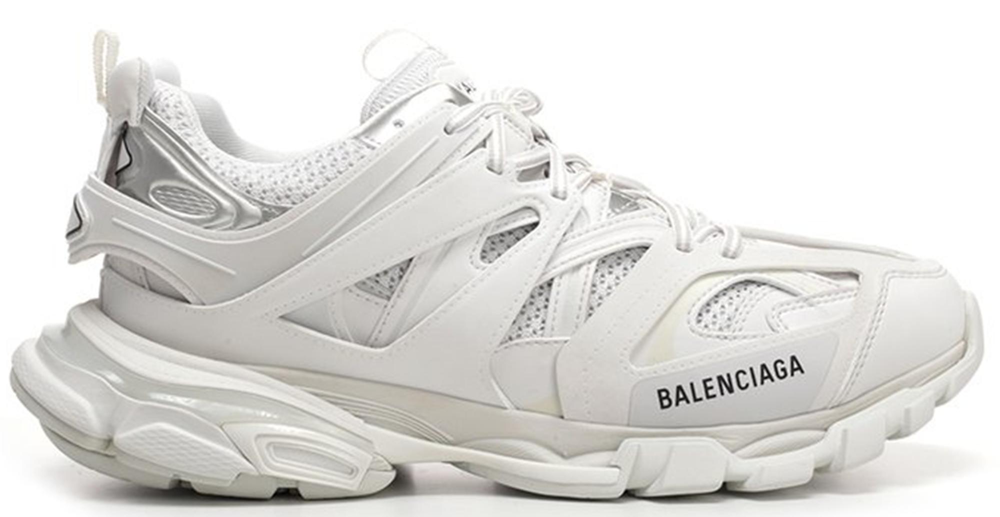 Yellow Track Nylon Mesh and Rubber Sneakers Balenciaga