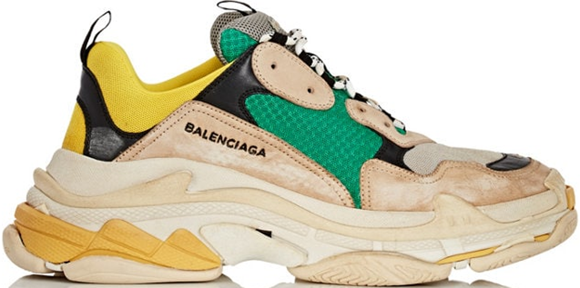 Balenciaga Triple S Beige Green Yellow (2018 Reissue)