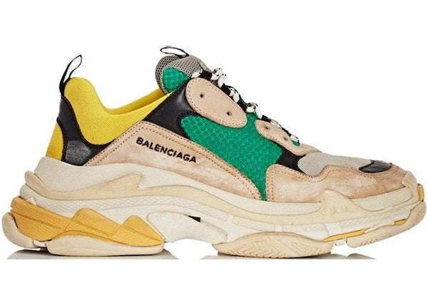 6e346770a4f1 Balenciaga Triple S Beige Green Yellow - 483513-W06E3-7070
