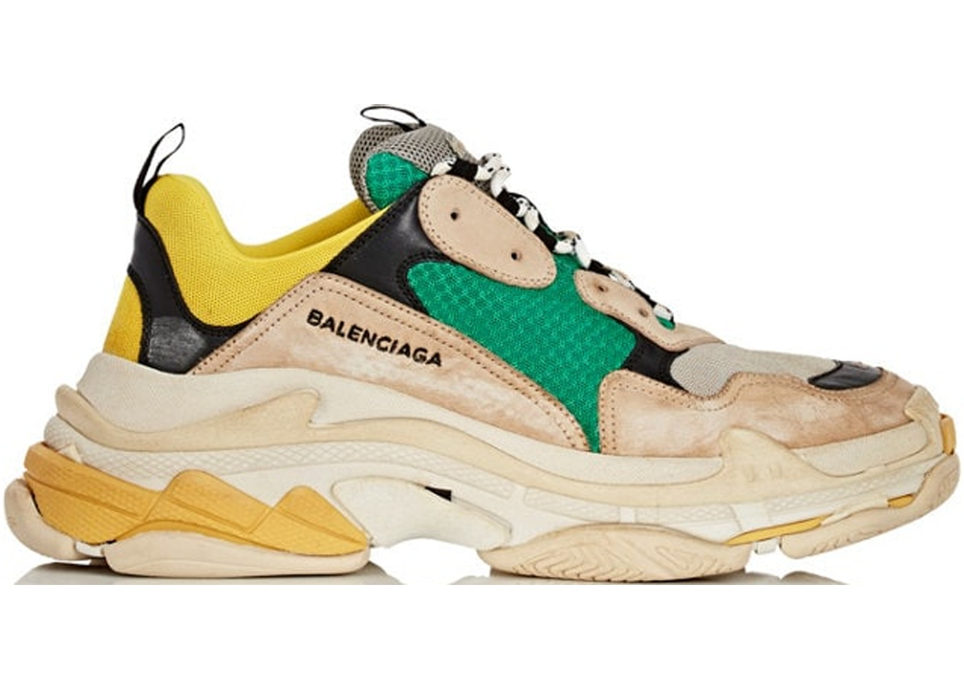 404ca1c04d17b Sell. or Ask. Size: 44. View All Bids. Balenciaga Triple S Beige Green  Yellow