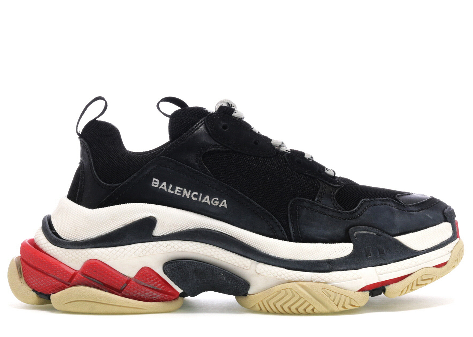 Red and Black Triple S Sneakers Balenciaga j1nge9