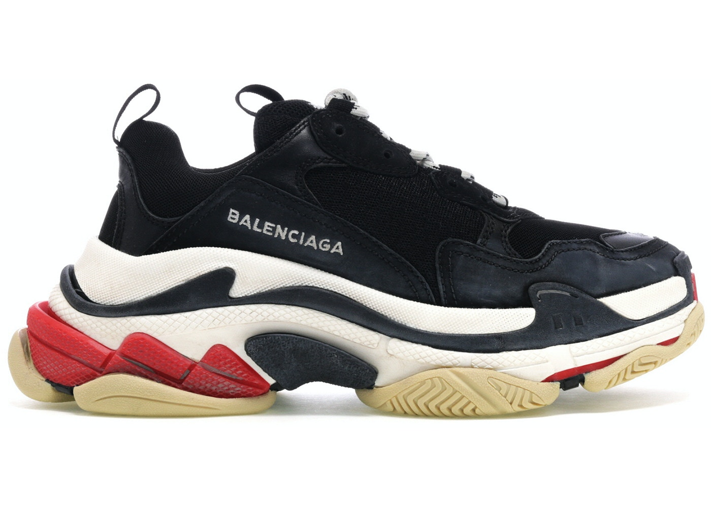 b740a0f8d0e Balenciaga Triple S Black White Red - 483513-W06E1-1000
