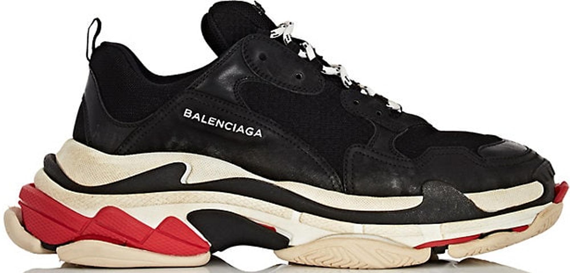 Balenciaga Balenciaga Triple S Sneaker in Grey blue red sz