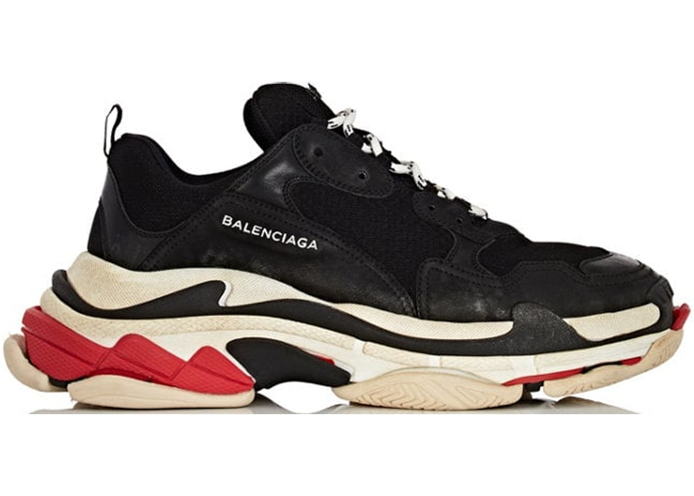 f172ba549242 Balenciaga Triple S Black White Red (2018 Reissue) - undefined