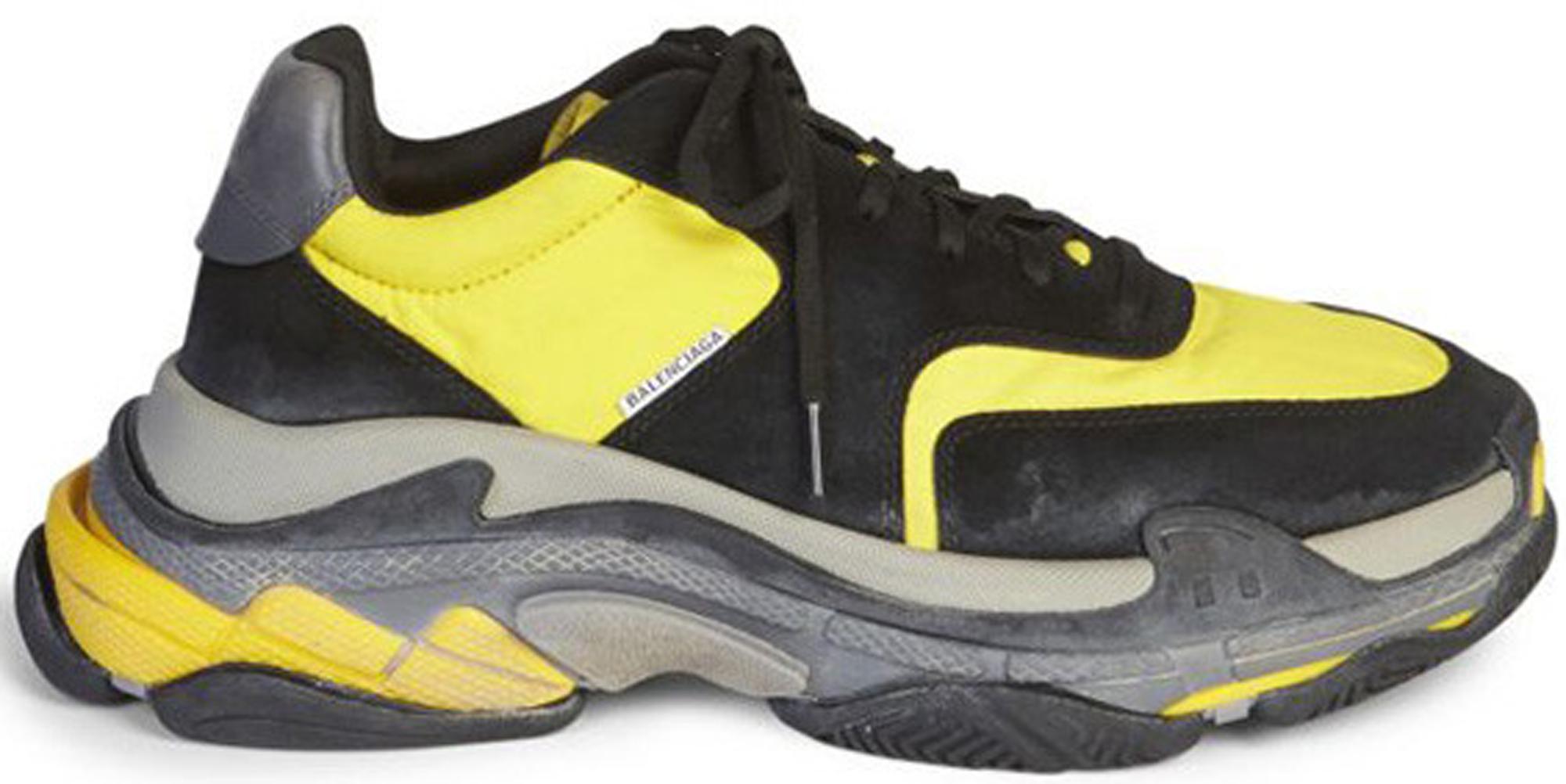 Balenciaga Triple S Black Yellow