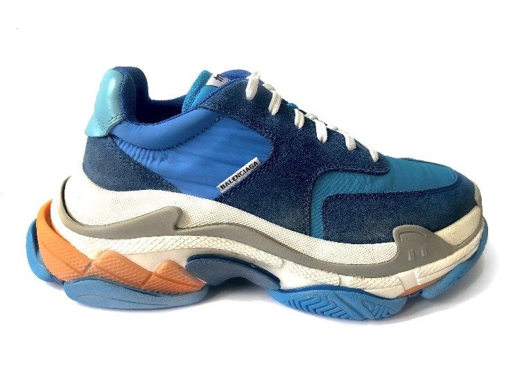 LX Batch Balenciaga Triple S Blue Red Grey Chanz Sneakers