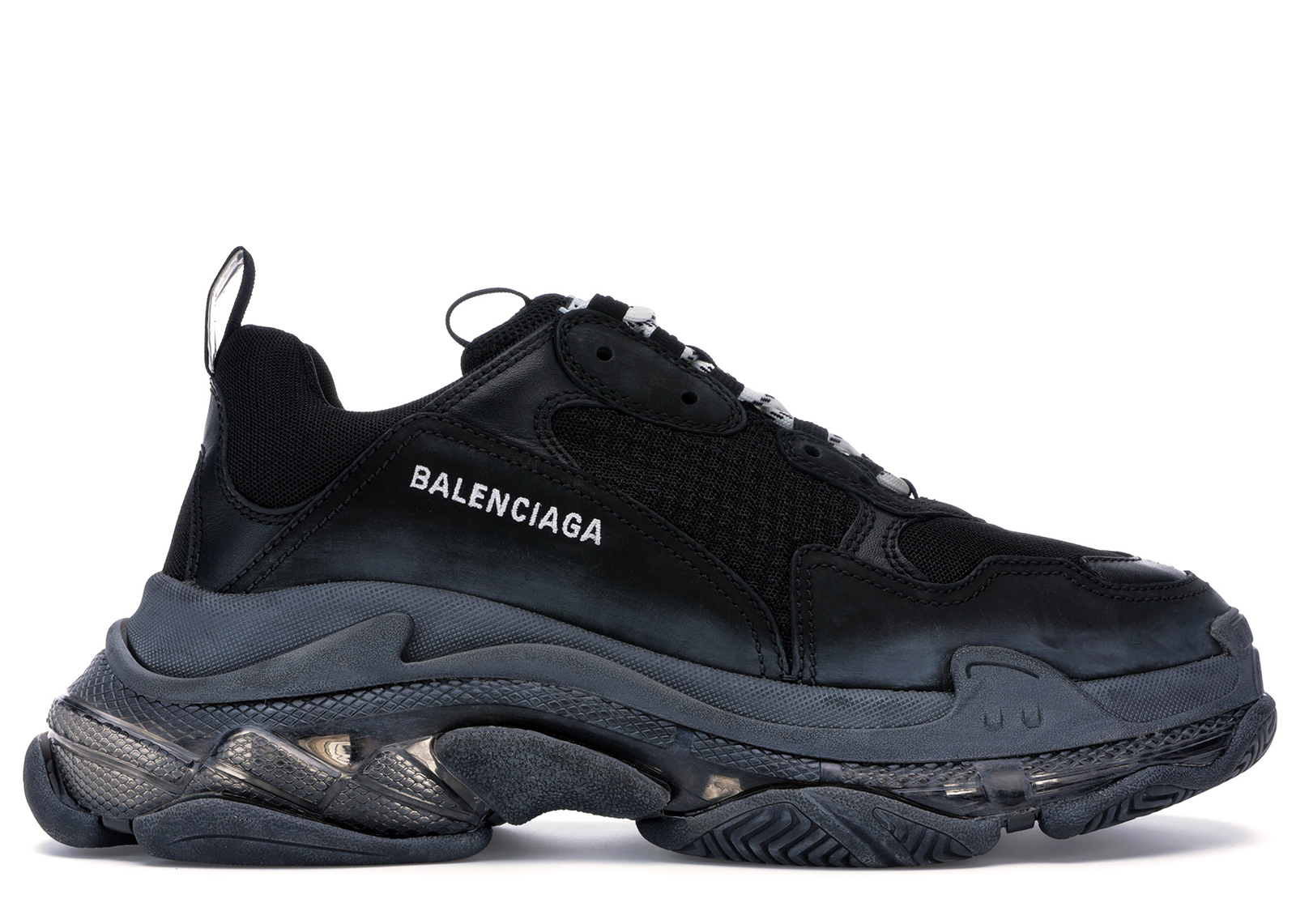 Balenciaga Triple S Clear Sole Black