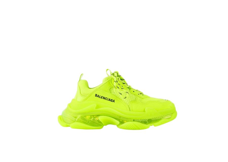 Balenciaga Triple S Beige Green Yellow 2018 Reissue Pre