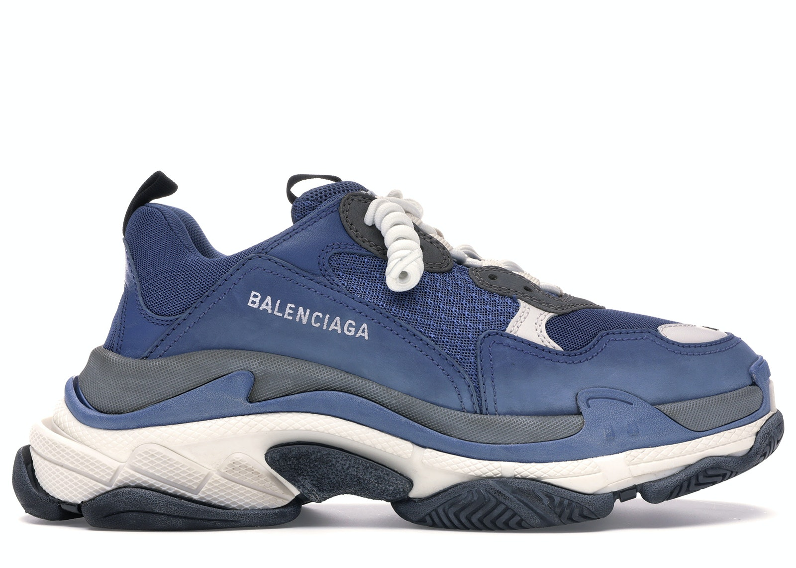 Balenciaga Red And Grey Triple S Sneakers for Men Save