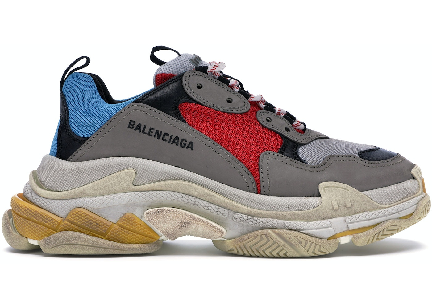 quality design ad86b cbbd2 Balenciaga Triple S Grey Red Blue (2018 Reissue)