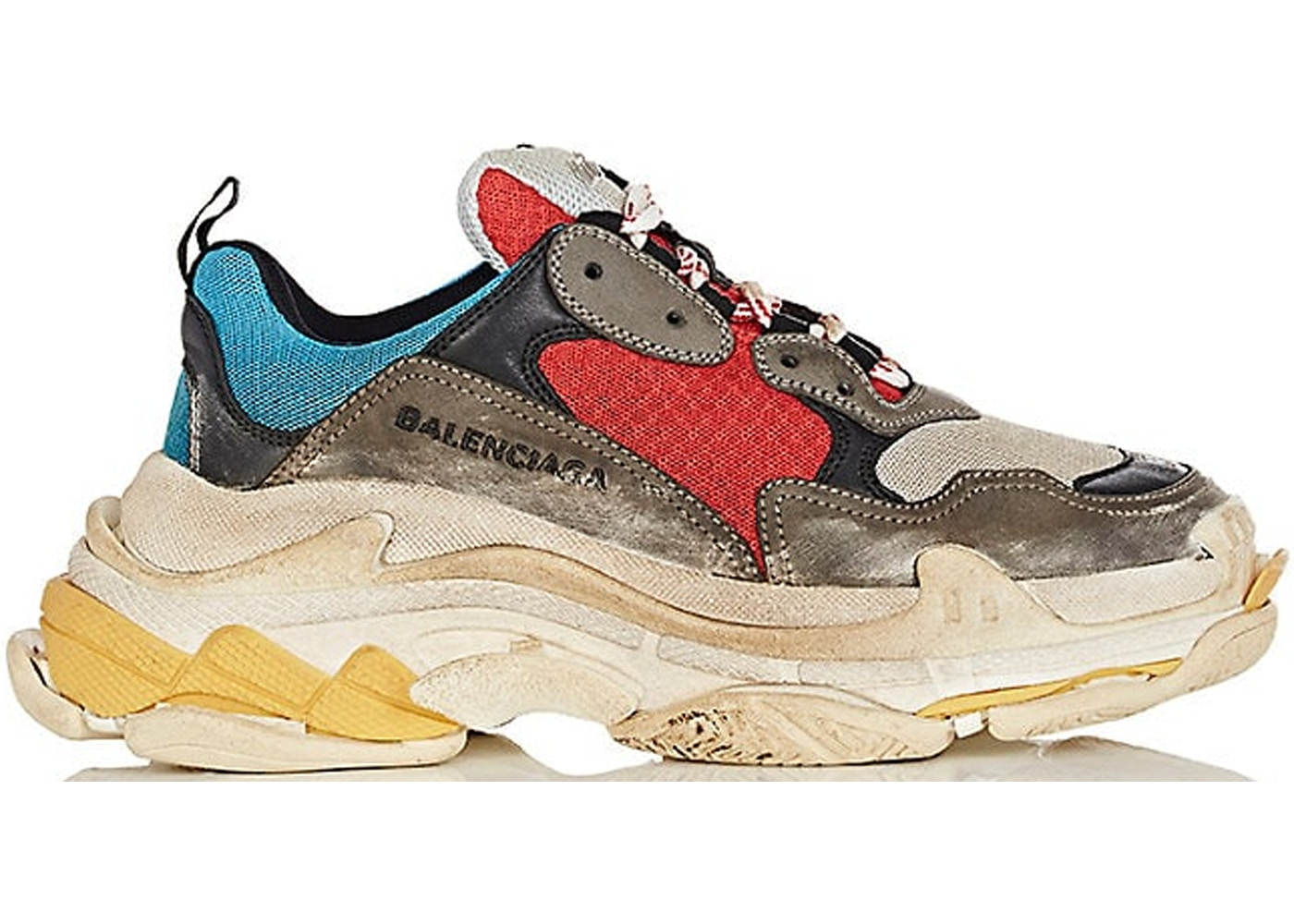 meet online here finest selection Balenciaga Triple S Grey Red Blue (W)