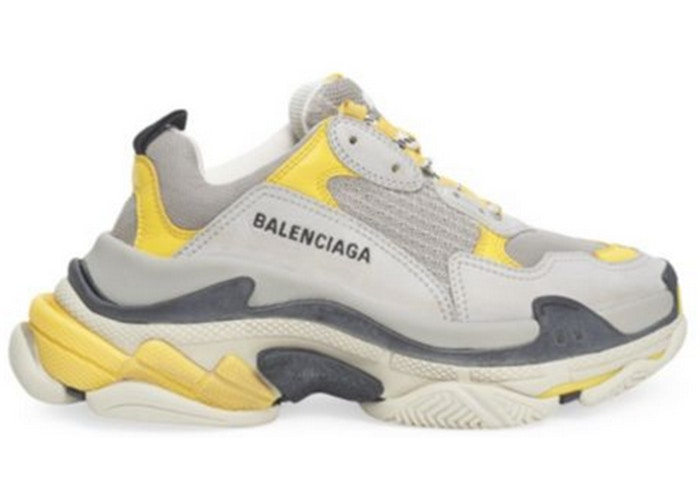 Balenciaga Triple S Grey Yellow (W)