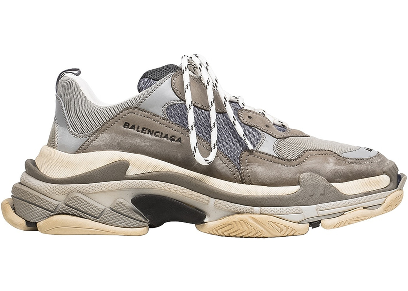 Discount Explore Balenciaga Triple S Sneakers - Grey Fast Delivery Online Quality Free Shipping Outlet Free Shipping Store Fast Delivery Cheap Price tWySX