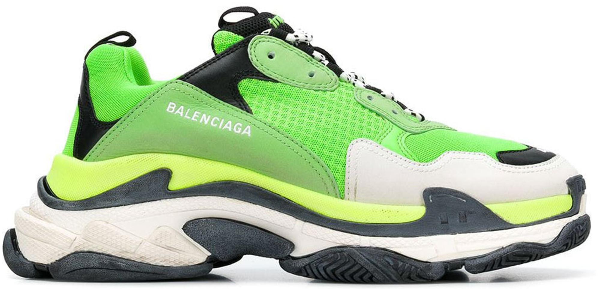 Balenciaga Triple S Lime Green - Sneakers