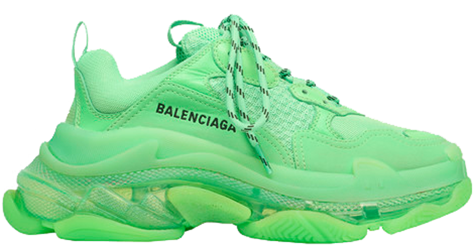 Balenciaga Triple S Neon Green Clear Sole (W)