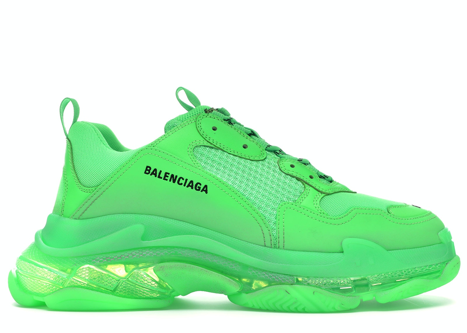 Balenciaga Triple S Neon Green Clear Sole
