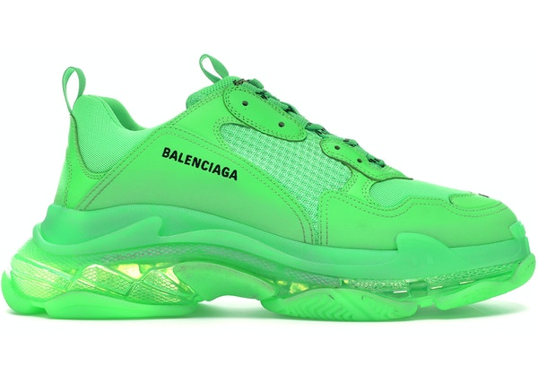 classic shoes coupon codes quality Balenciaga Triple S Neon Green Clear Sole