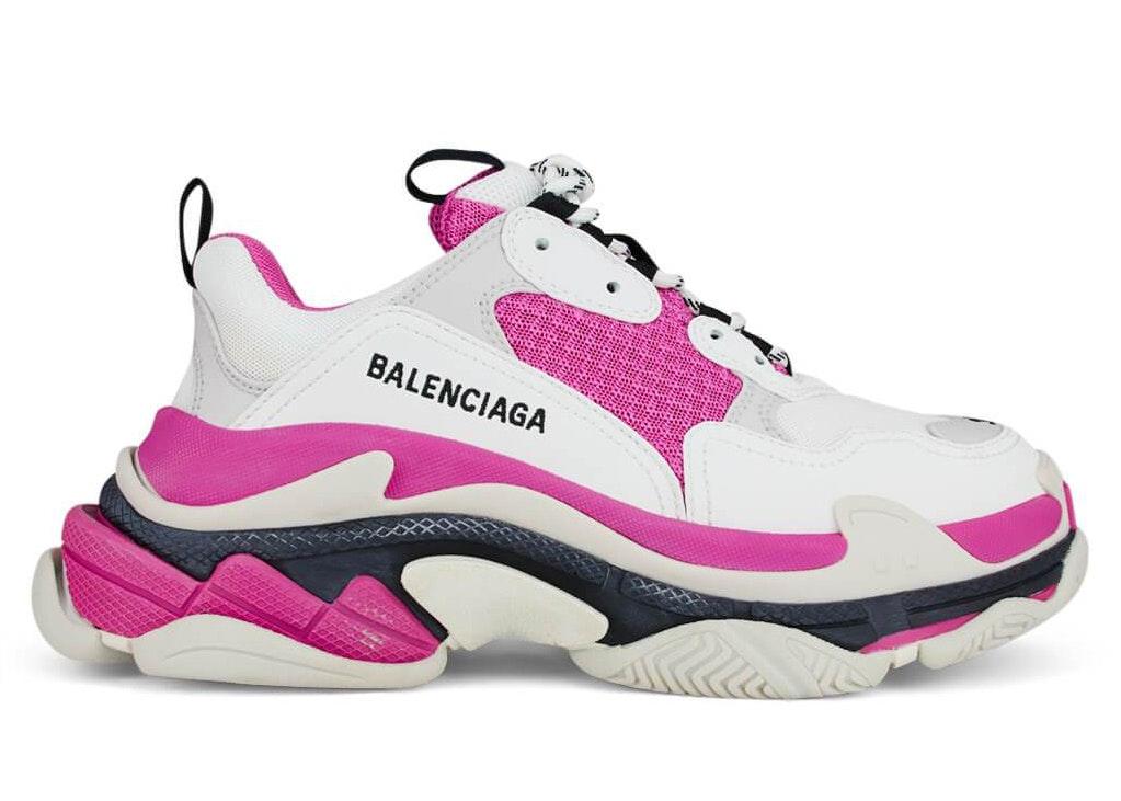 BALENCiAGA MEN S TRiPLE S Sneakers Noir Bordeaux