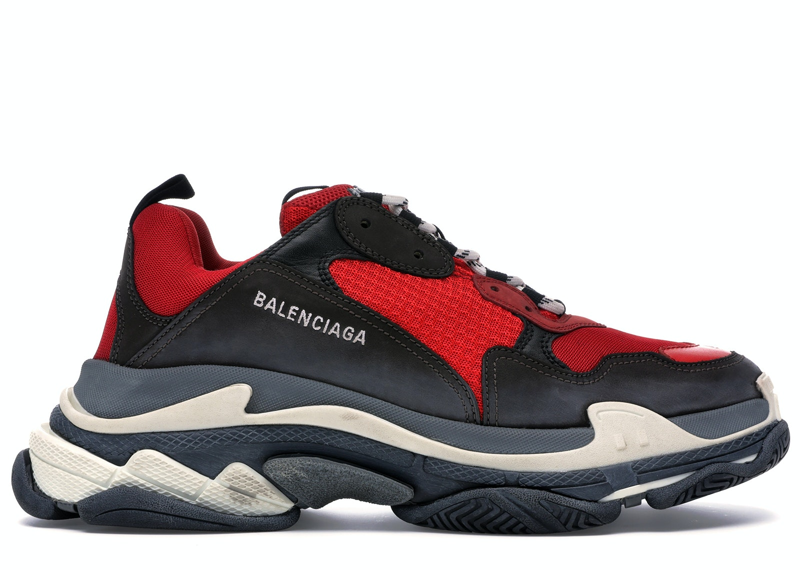 Balenciaga Mens Triple S Airsole Leather And Mesh Trainers