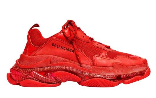 Balenciaga Triple S Red Clear Sole (W