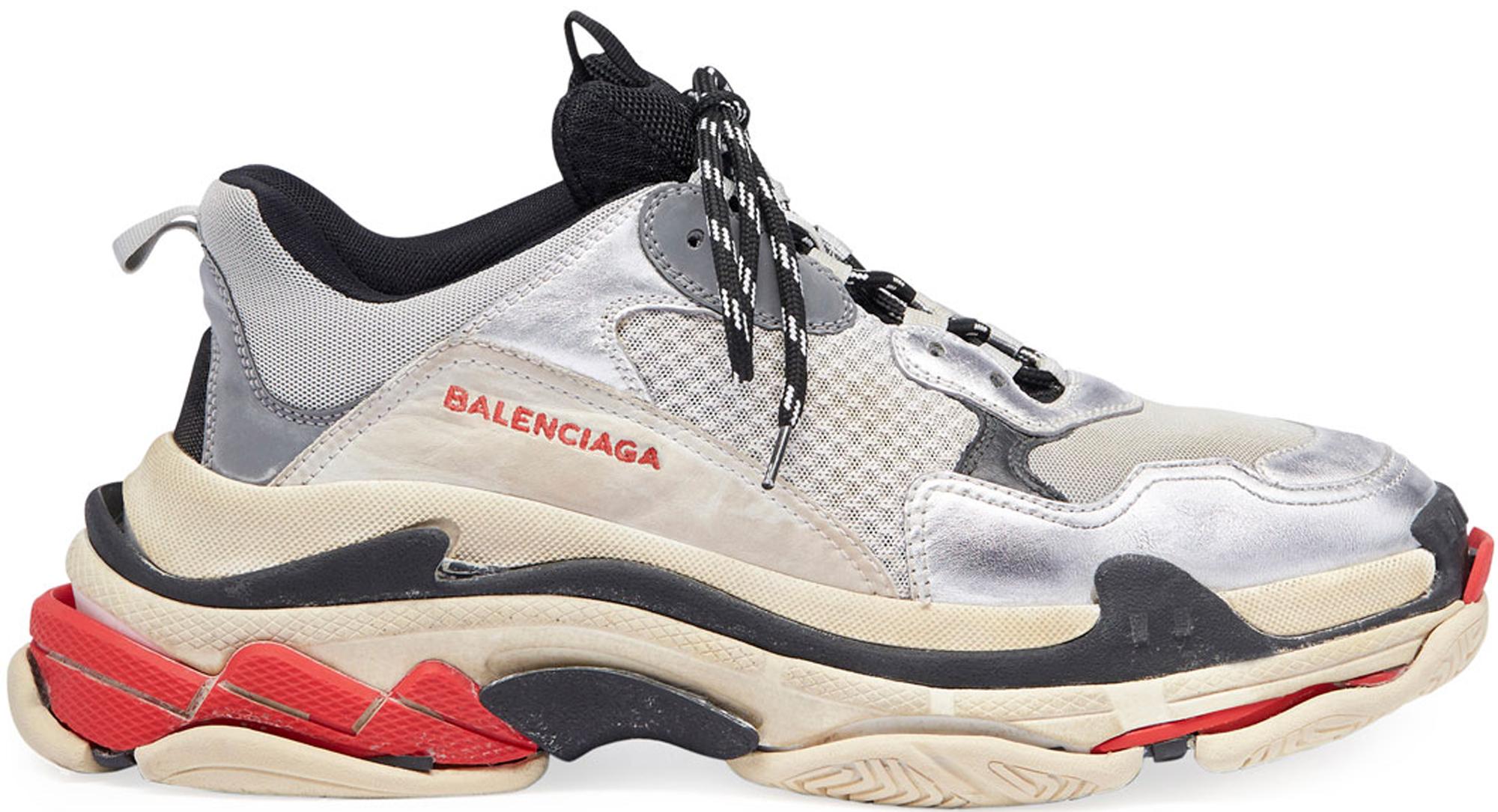Balenciaga Black Diagonal Logo Triple S Sneakers Mount