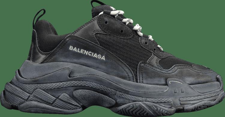 Balenciaga Authentic Triple Black Triple S Sneakers Grailed