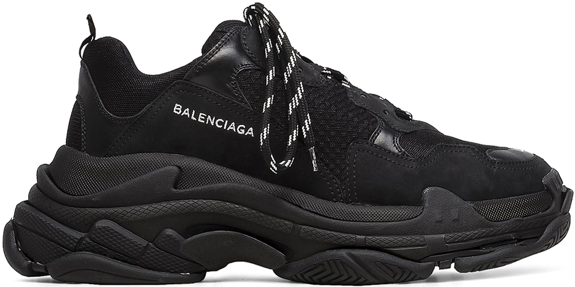BALENCIAGA - Triple S Sneakers / Black