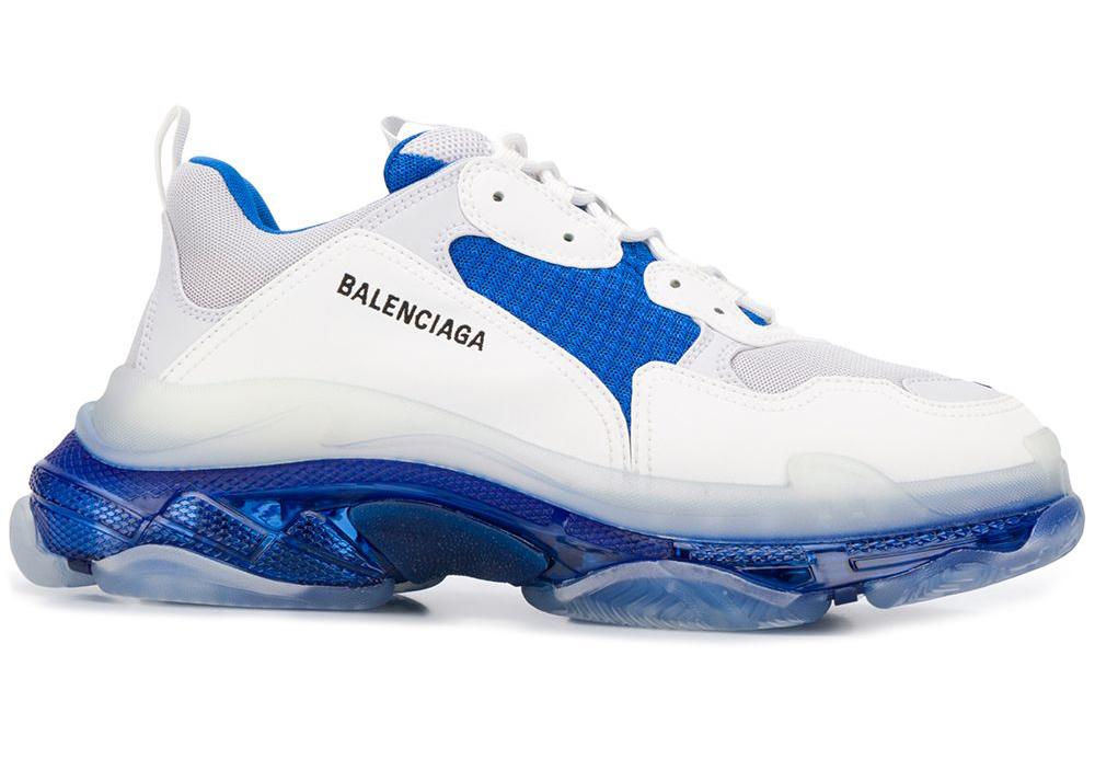 Balenciaga Triple S White Blue - 541624