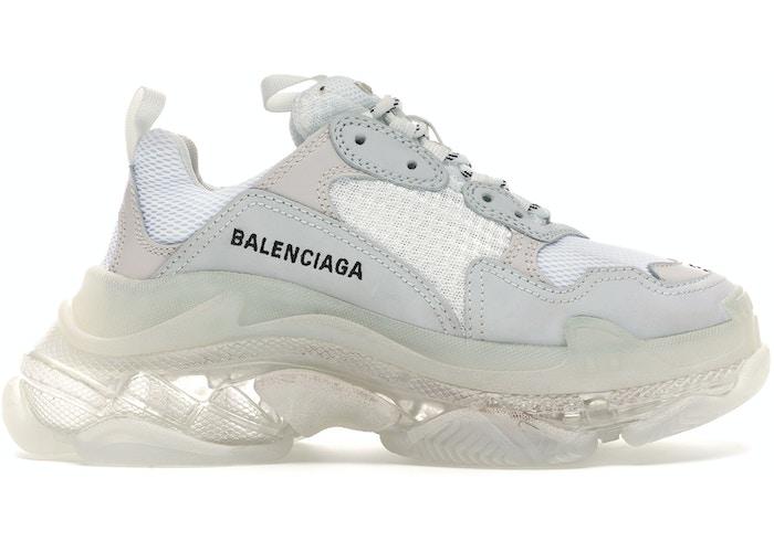 Balenciaga Triple S White Clear Sole (W)