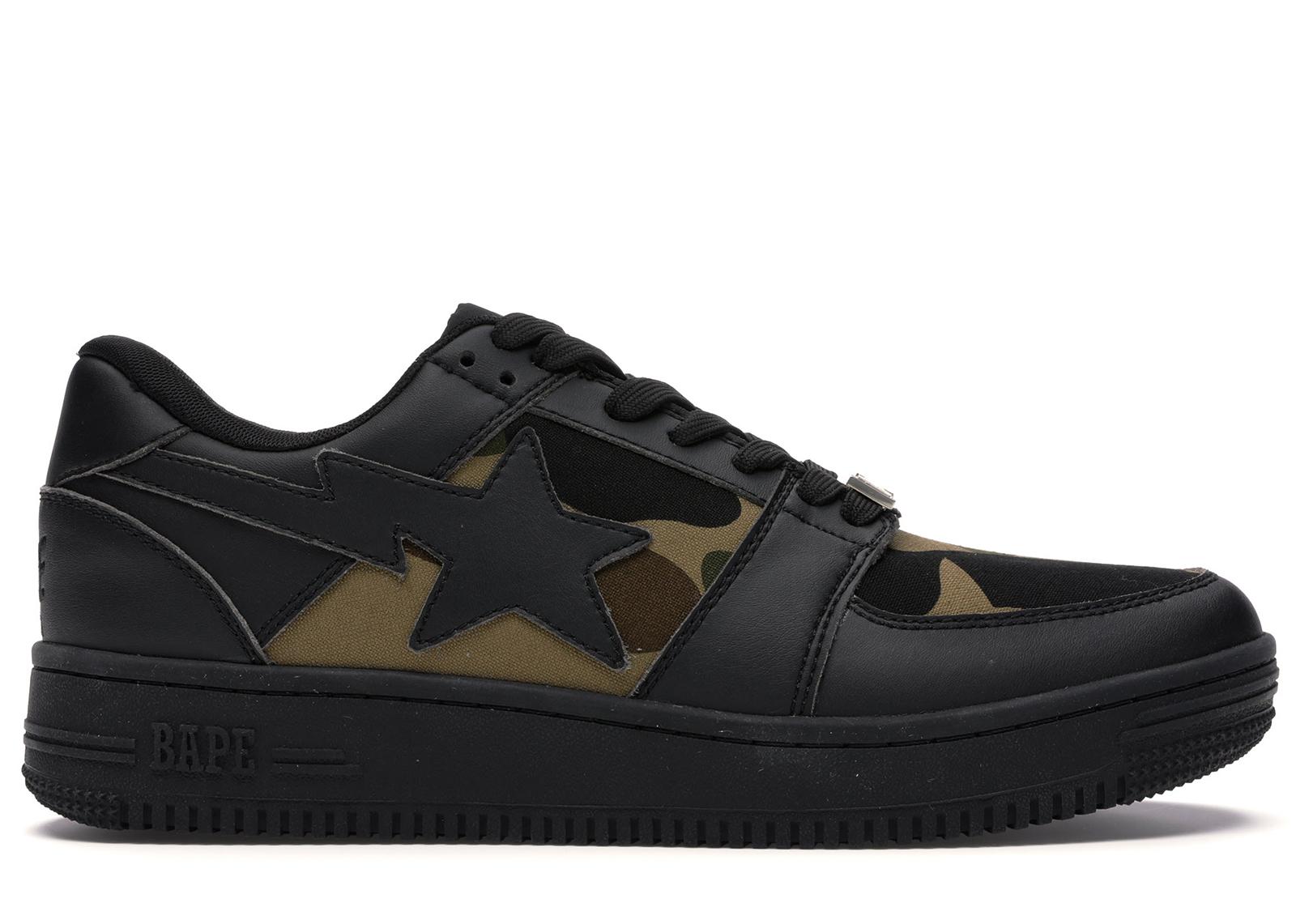 Bape 1st Camo Bape Sta Low Black - Sneakers