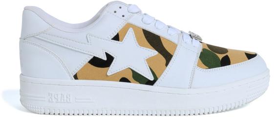 Bape 1st Camo Bape Sta Low White - Sneakers