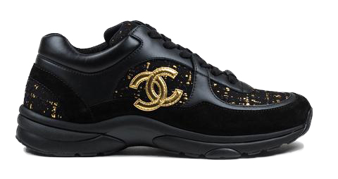 Chanel Low Top Trainer CC Suede Tweed