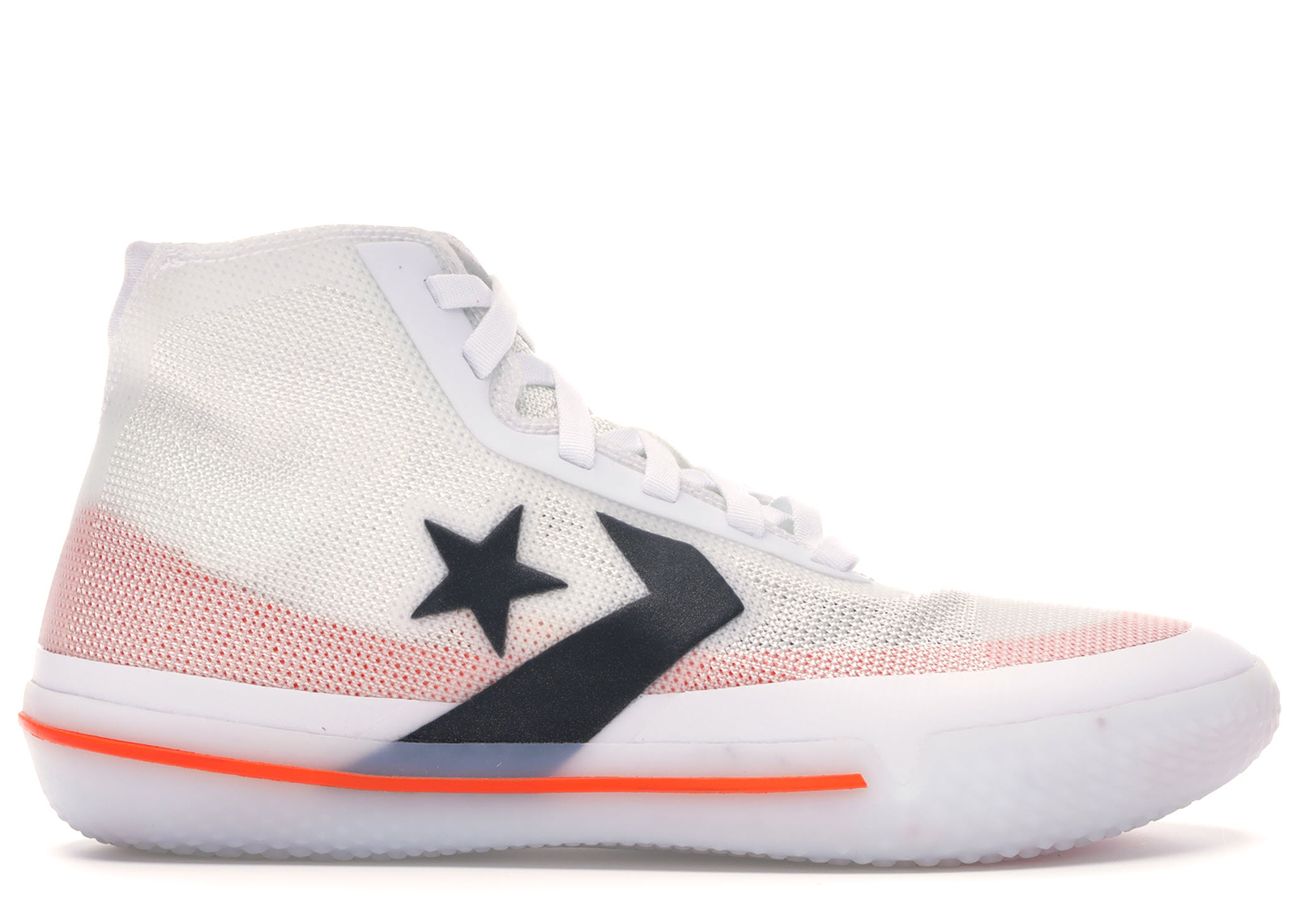 Converse All Star Pro BB White Black Orange