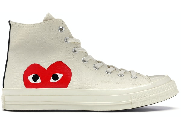 Converse Chuck Taylor All-Star 70s Hi Comme des Garcons PLAY White 26c72fa29