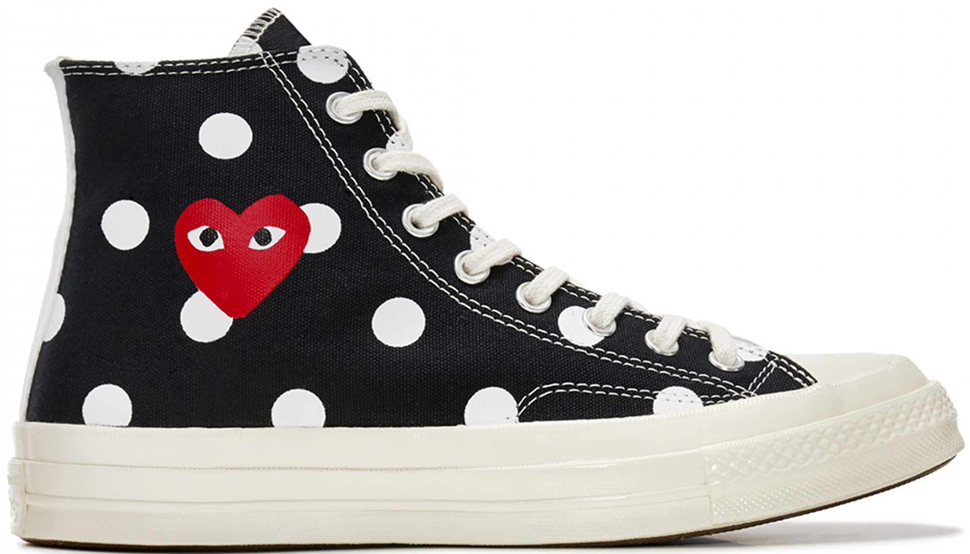 Converse Chuck Taylor All-Star 70s Hi Comme des Garcons Polka Dot Black