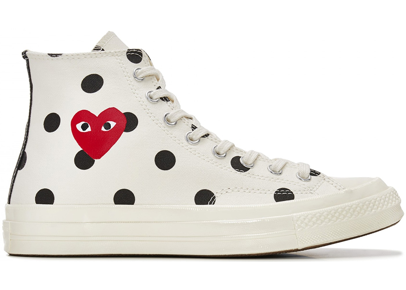 e67fb24f3633 Converse Chuck Taylor All-Star 70s Hi Comme des Garcons Polka Dot White