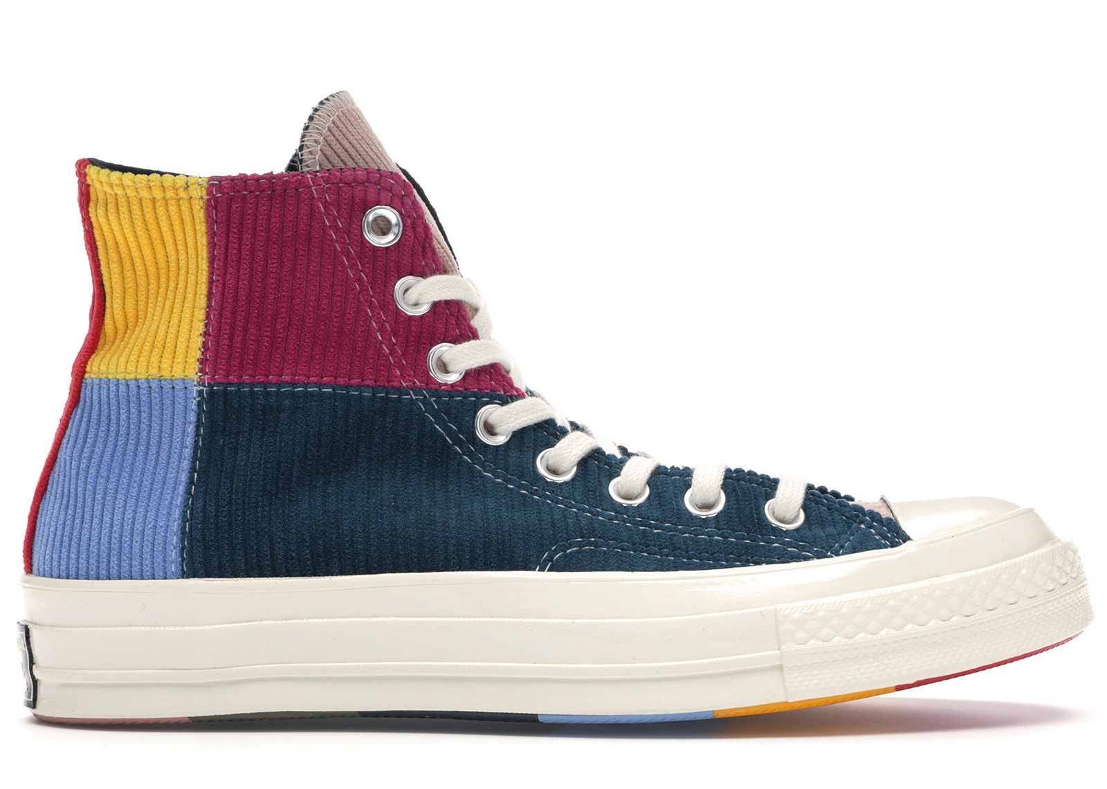 Converse Chuck Taylor All Star 70s Hi Corduroy Patchwork Gold Navy