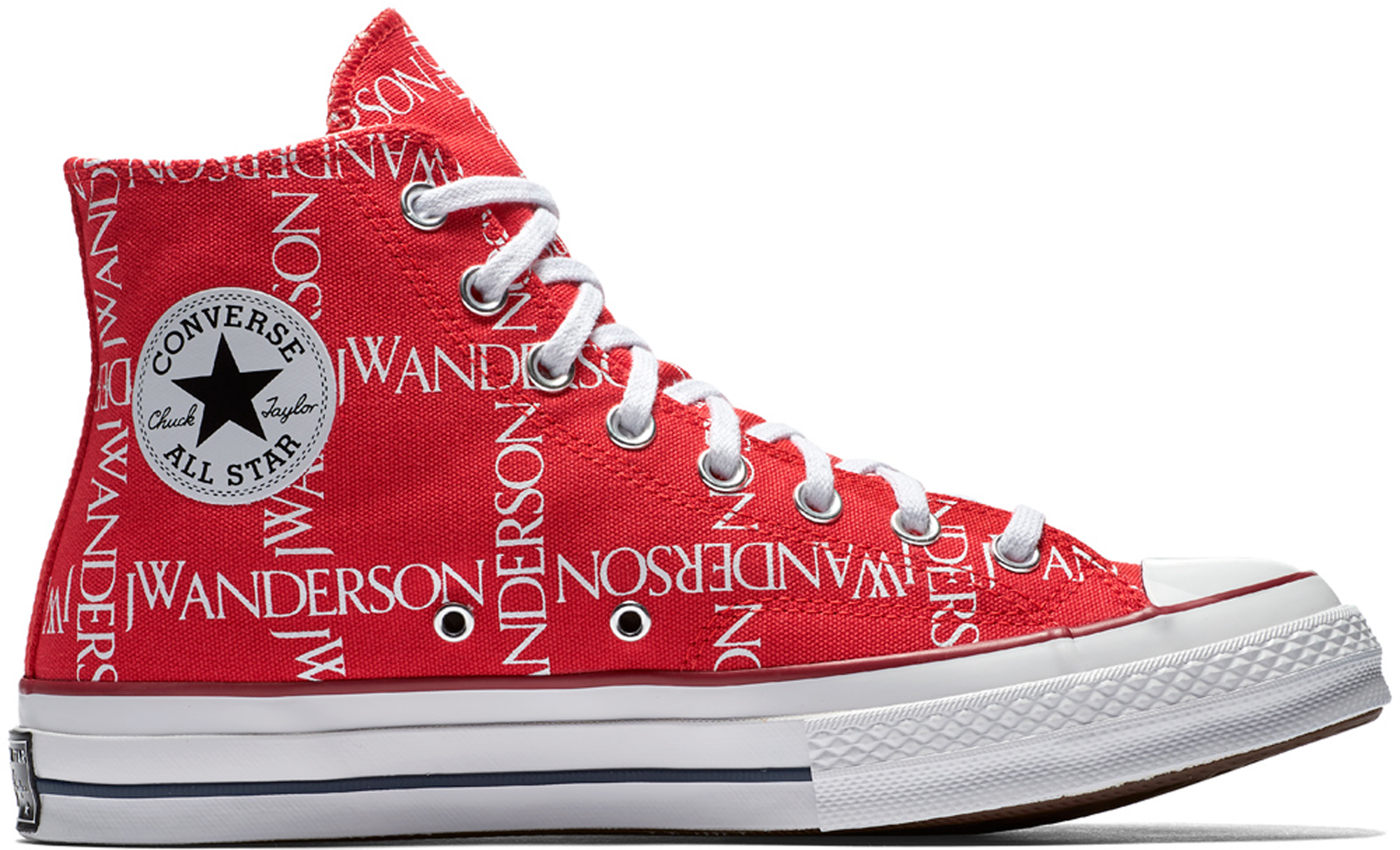 Converse Chuck Taylor All-Star 70s Hi Grid JW Anderson Red