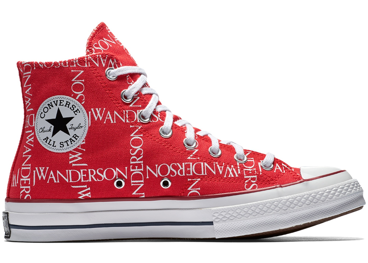 281c0c571 Converse Chuck Taylor All-Star 70s Hi Grid JW Anderson Red - 162290C