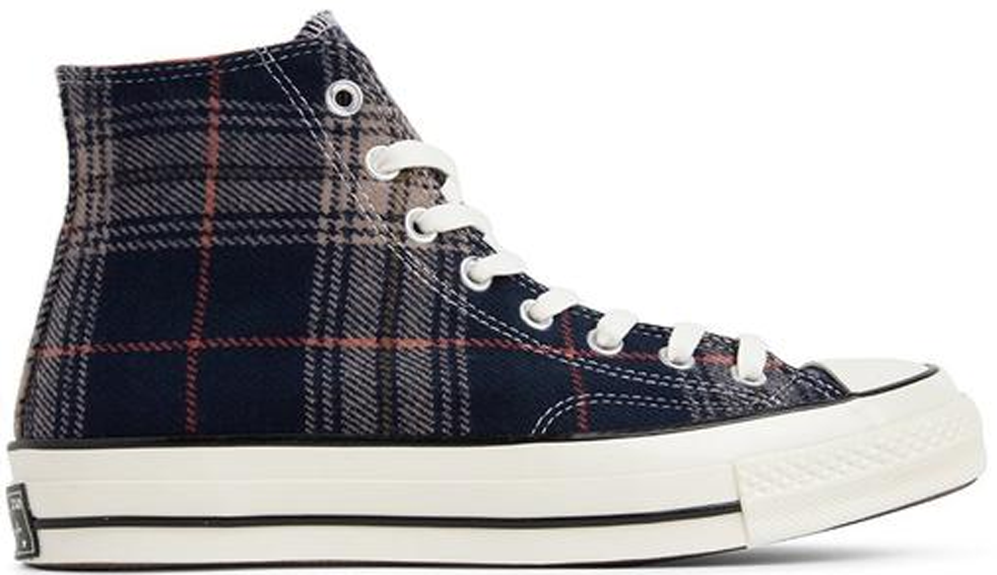 Converse Chuck Taylor All-Star 70s Hi Plaid Pack Navy