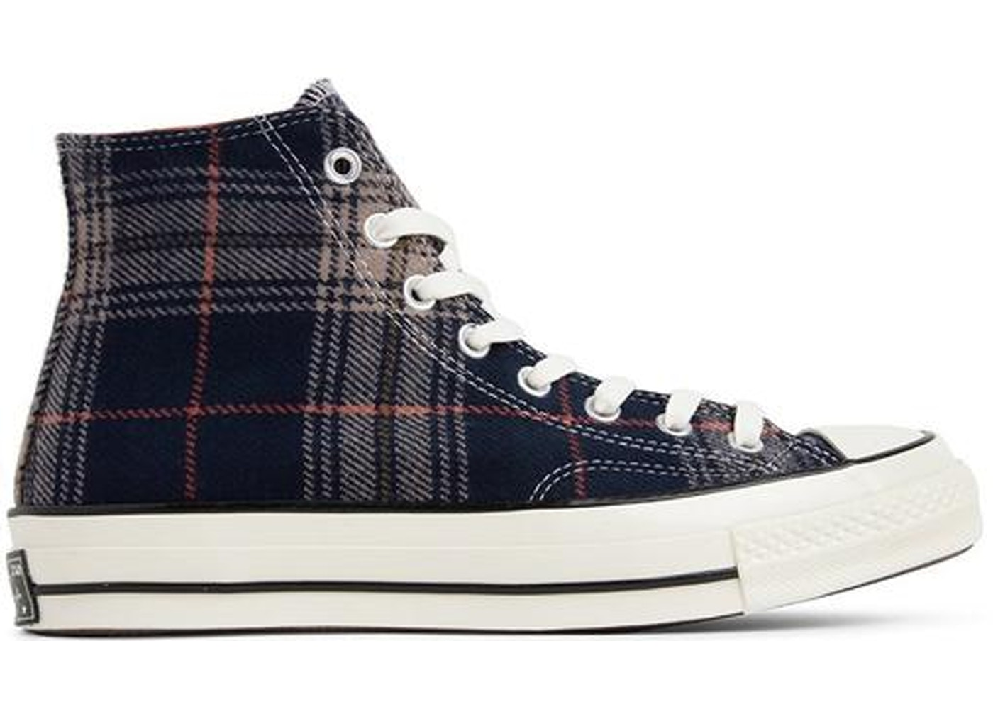 Converse Chuck Taylor All Star 70s Hi Plaid Pack Navy by Stock X