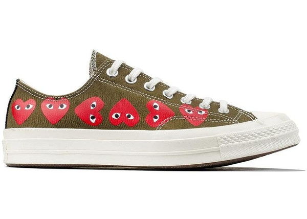 92f85c1937d3 Converse Chuck Taylor All-Star 70s Ox Comme des Garcons Multi Heart Green