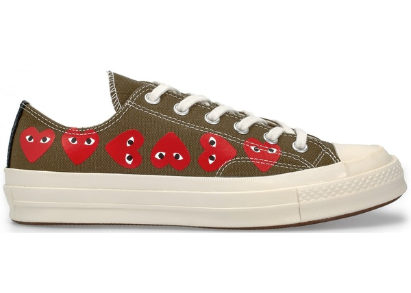 CDG PLAY CONVERSE multi heart 1970S OX