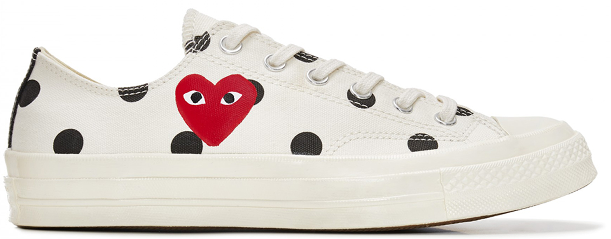 Converse Chuck Taylor All-Star 70s Ox Comme des Garcons Polka Dot White