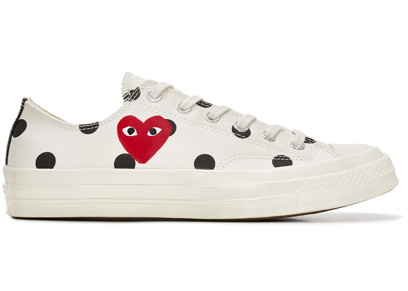 best place best shoes innovative design Converse Chuck Taylor All-Star 70s Ox Comme des Garcons PLAY Polka Dot White