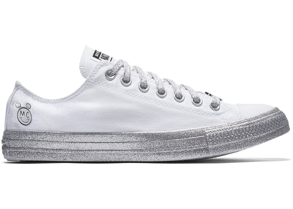 96f3198fd6f4 Converse Chuck Taylor All-Star Low Miley Cyrus White Silver